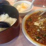 9790554 - セットのご飯(お櫃入り)と杏仁豆腐