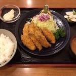 とんかつ 三金 - カキフライ定食  1700円