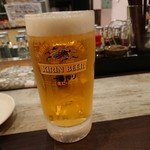 大衆馬肉酒場 ジョッキー - 生ビール 201812