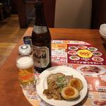 バーミヤン - ビール中瓶549円+、おつまみ3種盛り