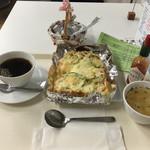 はぁもにぃ♪ - 料理写真:サラダピザトーストセット+小スープ@610