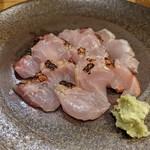 企久太 - 金目鯛の炙り刺身
