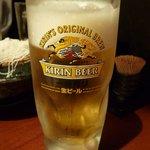 美菜鉄板 こまち - やっぱり仕事の後はビール!?