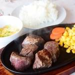 山中湖畔のステーキ酒場 - 料理写真:酒場ステーキ