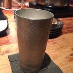 しゃぶ屋 - ビールは錫のグラス