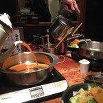 しゃぶ屋 - スープ投入