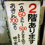 蜂の家 - 二階席もあります!!宴会予約8名まで!! 鍋のコースなら飲み放題つけて2時間で3500円ぐらいでやってくれるそうです♪