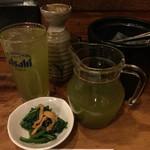 97931648 - 静岡割り、焼酎と静岡緑茶。¥520(税別)