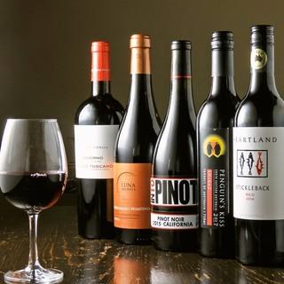 ソムリエ厳選ワインと日本酒をお楽しみください!