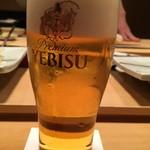 銀座 久兵衛 - 生ビール