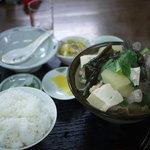 ぐるくん - 骨汁なんとかっていう料理。なんと500円!!