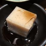 そばと天ぷら 石楽 - そば豆腐 黒蜜がけ