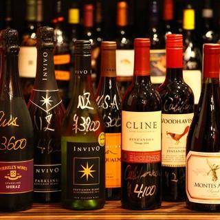 50種以上のワインと厳選された日本酒を堪能‼