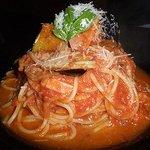 9795283 - 揚げ茄子とバジルのトマトパスタ