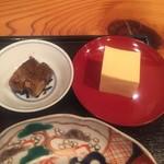 はしま - 鮎甘露煮、玉子豆腐