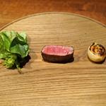 アカ - 山形牛のヒレ肉の炭火焼