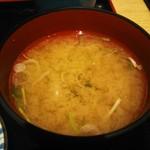 伊豆太郎 - 葱入りあおさ汁美味い!良い香りの深い味わいのダシ!!