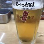 元祖串かつ だるま - 生ビール