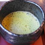 日本料理 紫水 - お抹茶アップ