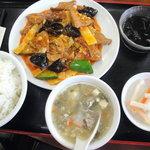Shuukouen - 豚レバー辛子炒めランチです