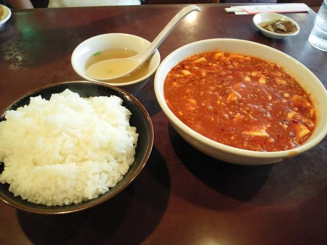中国料理 蘭州 - 自分の麻婆豆腐定食(量がハンパね~)