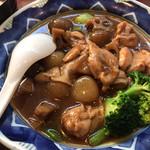 97982394 - ふーみん(鶏肉と玉こんにゃくのピリ辛炒め定食)