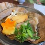かずさリゾート鹿野山ビューホテル - マーガレットポークと茸の朴葉焼き
