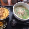 元祖 生そうめん めんめん - 料理写真:ねぎ塩そうめん&そぼろ丼