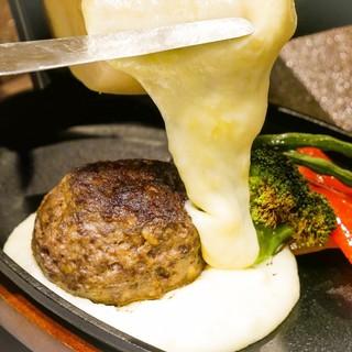 1番人気ラクレットチーズハンバーグ