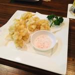 うどんde九州ダイニング 昌屋 - 白子の天ぷら 臭みがなくとてもクリーミー。