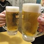 肴屋 八兵衛  - 生ビール で 乾杯ぁ~イ!      2018.11.28