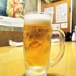 肴屋 八兵衛  - 生ビール。      2018.11.28