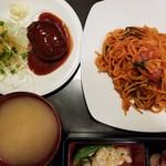 カヤシマ - ナポリタン+ハンバーグ