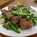97995470 - ラム肉炒め(クミン)