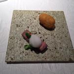 プルミエ・クリュ - 長崎牛のタン元 日扇貝などのクリームコロッケ