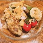 富山の採れたて野菜のグリル 季節野菜のソース