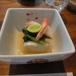 志蕎庵 江月 - 胡麻豆腐(以下休日限定の蕎麦三昧セット)