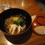志蕎庵 江月 - 三番目の蕎麦(季節の温かい蕎麦)