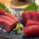 魚寅食堂 - マグロ、トロ刺と赤身刺
