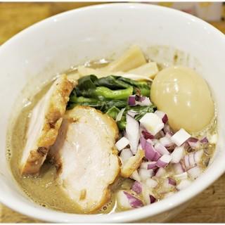 煮干し中華そば 一剣 - 料理写真:濃厚煮干+煮玉子 750+100円 濃厚ニボニボ♪