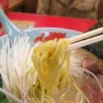 ラーメン山岡家 - 朝ラーメンは豚骨塩ラーメンで細麺です