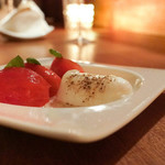 赤坂 Toriya Premium - フルーツトマトのカプレーゼ