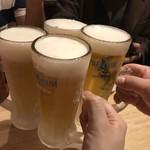 神戸餃子 樂 - かおるエールで乾杯♪