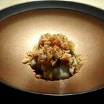TTOAHISU - 鰆、柿のフレーク、菊芋のピューレ