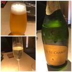 TTOAHISU - マイレビ様は「ビール」、私は「スパークリングワイン」を。