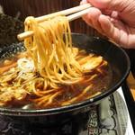 らあめん花月嵐 - 麺家いろは監修『富山ブラック』(720円)(麺リフトは苦手です)
