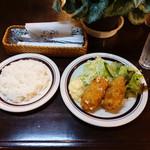 resutorankonishi - カニクリームコロッケライス1,200円