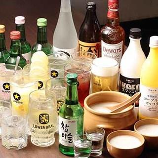 <韓国料理に合うドリンク>生マッコリ、韓国焼酎に美酢サワー