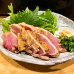 居酒屋ふらっと - 宮崎地鶏のたたき