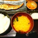 越後屋 竹千代 - ぶりのねぎ塩焼き定食